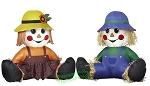 3' Air Blown Inflatable Thanksgiving Scarecrow Boy & Girl