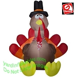 8 1/2' Gemmy Airblown Inflatable Thanksgiving Turkey