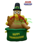 6' Air blown Inflatable Thanksgiving Turkey in Pot