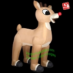 Gemmy Airblown Inflatable 10' Giant Rudolph the Red Nose Reindeer