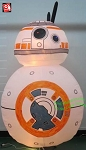 8' Gemmy Airblown Inflatable Star Wars Droid BB-8 w/ Flashing LED Lights