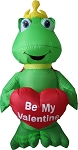 4' Inflatable Frog Holding Heart