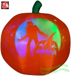 5' Panoramic COLOR Projection Pumpkin (RGB) Jack-O-Lantern