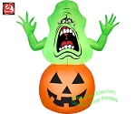 3 1/2' Ghostbusters Slimer On Pumpkin