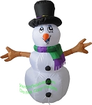 4' Air Blown Inflatable Snowman Stick Arms