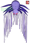 6' Gemmy Airblown Inflatable Archway Hanging PURPLE Spider w/ Red LED Eyes