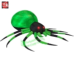 8' Gemmy Airblown Inflatable Halloween Green & Black Spider w/ Projection PHANTASM Lights