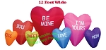 12' Air Blown Inflatable Valentine's Day Candy Hearts Patch