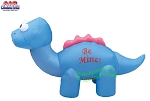 7' Air Blown Inflatable Blue Valentines Day Dinosaur
