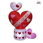 6' Air Blown Inflatable Valentine's Day Hearts Scene