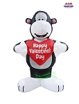 5' Air Blown Inflatable Valentine's Day Gorilla w/ Heart