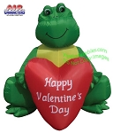 6' Air Blown Inflatable Valentine's Day Frog Holding Heart