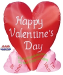 6' Air Blown Inflatable Valentine's Day Big Heart With 4 Little Hearts