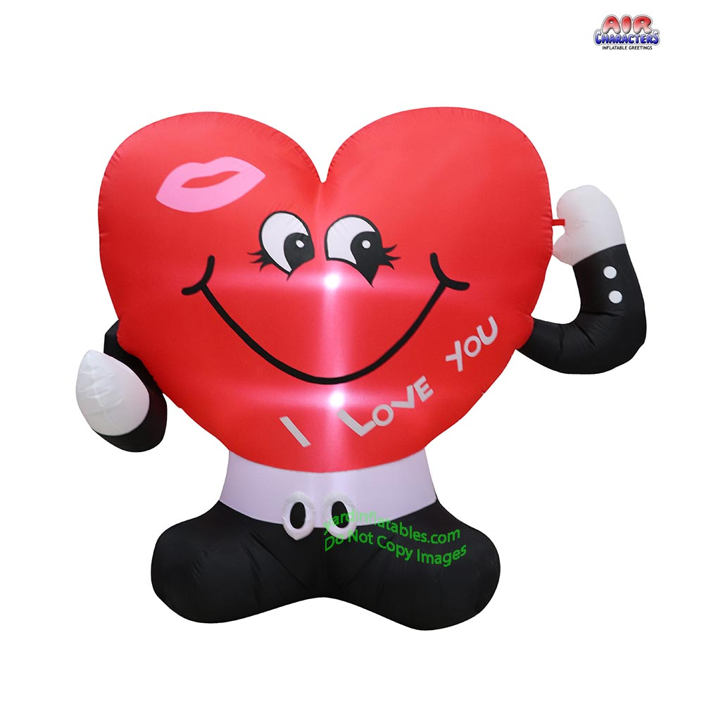 5' Air Blown Inflatable Valentines Day Heart