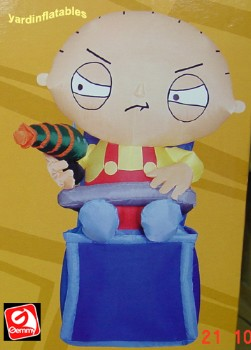 4' Gemmy Airblown Inflatable Stewie from Family Guy