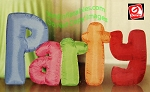 4' Gemmy Airblown Inflatable Long Party Letters