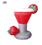 6' Air Blown Inflatable Strawberry Margarita Glass