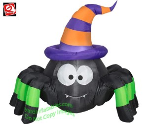 3 1/2' Vampire Spider Wearing Witch Hat