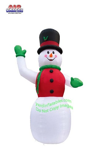 20' Air Blown Inflatable Snowman with Red Vest