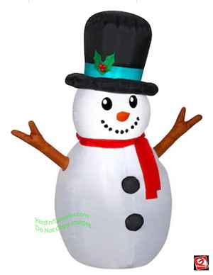 4' Airblown Inflatable Snowman w/ Top Hat