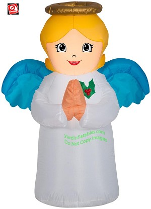 3 1/2' Gemmy Airblown Inflatable Christmas Angel