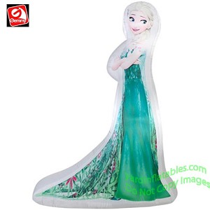 5' Photorealistic Elsa In Frozen Fever Dress