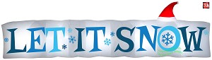 15' Gemmy Airblown Inflatable Let it Snow Christmas Sign