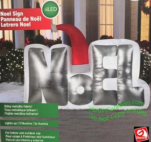 5 1/2' Airblown Inflatable Mixed Media NOEL Sign