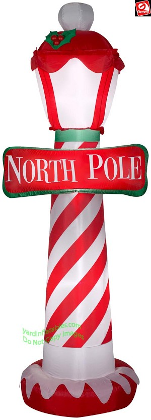 7' Airblown Inflatable North Pole Lamp Post