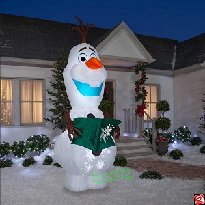 10 1/2' Airblown Whirl-o-Motion inflatable Olaf  w/ Book
