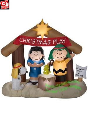 "6' Peanuts ""Christmas Play"" Nativity Scene"
