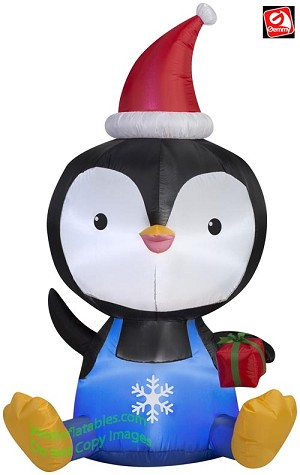 5' Airblown Inflatable Big Head Penguin