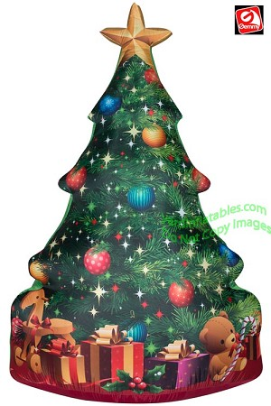 7' Airblown Inflatable Photo-realistic Christmas Tree