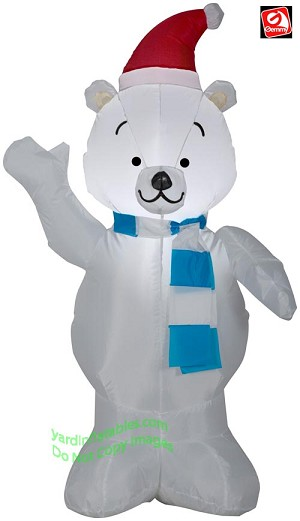 4' Airblown Inflatable Christmas Polar Bear