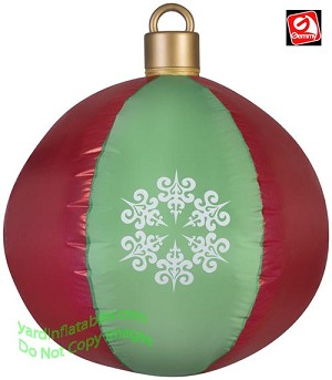 2 1/2' Red and Green Ball Ornament