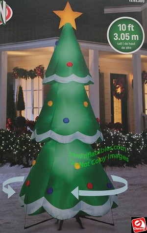 10' Animated Rotating Airblown Inflatable Christmas Tree