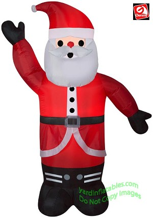 6' Gemmy Airblown Inflatable Santa Claus Waiving