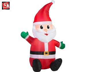 3 1/2' Santa Sitting Waiving Hand