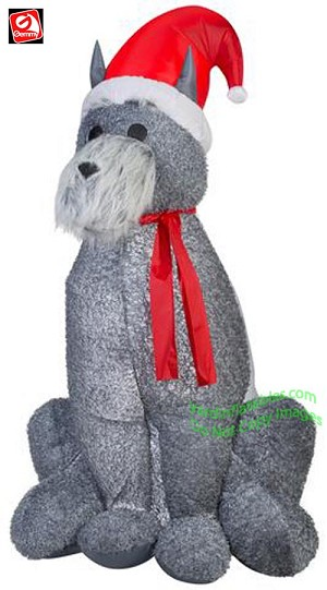 6' Mixed Media Furry Schnauzer Dog