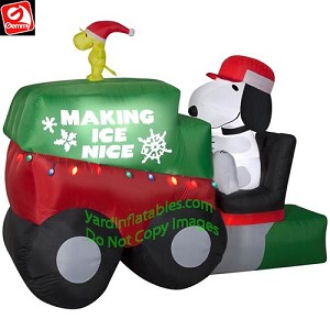 9 1/2' Animated Snoopy on Ice Machine / Resurfacer