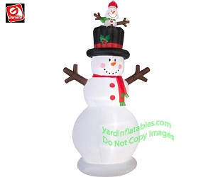 10' Animated Snowman w/ Pop-Up Baby Snowman