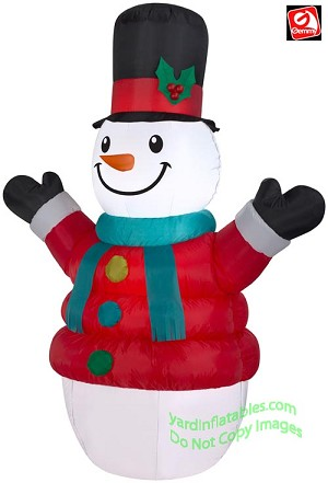7' Airblown Inflatable Puffy Parka Snowman