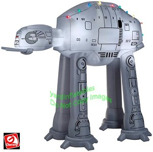 Gemmy Airblown Inflatable 9' Star Wars AT-AT Walker w/ Christmas Lights