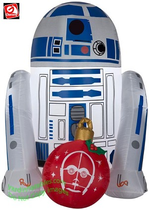 3' Airblown Inflatable Star Wars R2-D2 w/ Christmas Ornament