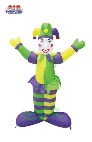6' Air Blown Inflatable Mardi Gras Purple Jester