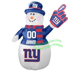 7' Air Blown Inflatable NFL New York GIANTS Snowman