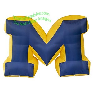"7' NCAA Inflatable Michigan Wolverine Big ""M"" Logo"