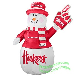 7' Air Blown Inflatable NCAA Nebraska Cornhuskers Snowman