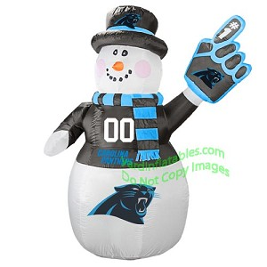 7' Air Blown Inflatable NFL Carolina PANTHERS Snowman
