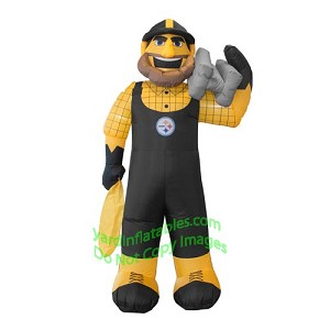 7' Air Blown Inflatable NFL Pittsburgh Steelers Steely McBeam Mascot